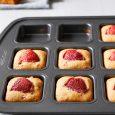 Strawberry Blondies in a Brownie Pan
