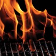 Flames on a Grill