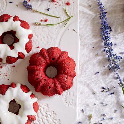 Red Velvet Mini Bundt Cakes