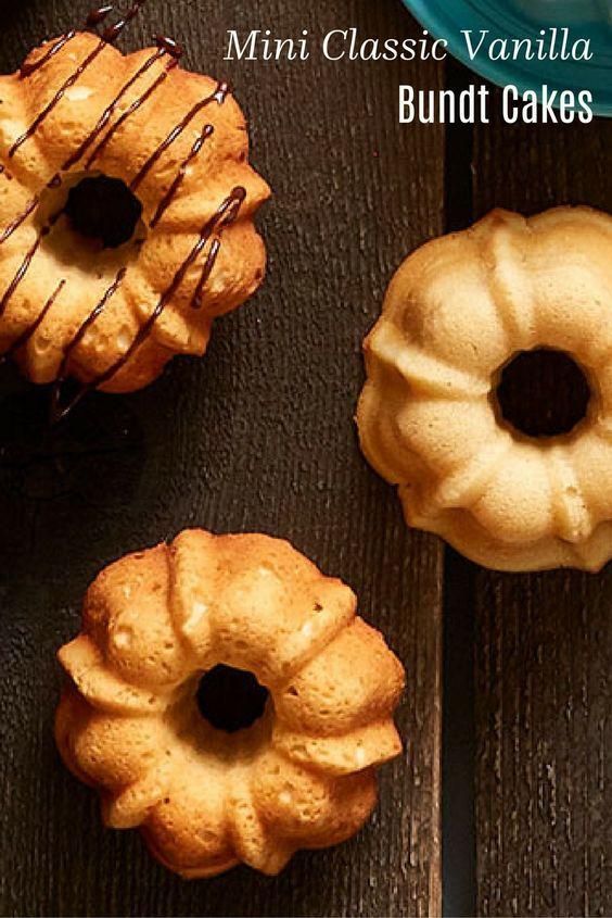 Mini Classic Vanilla Bundt Cakes
