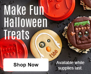 Make fun Halloween Treats. Shop now. Available while