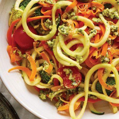 Creamy Avocado Pesto Primavera