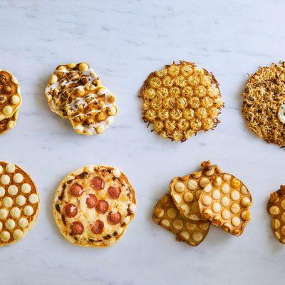 Bubble Waffles in a Waffle Puff Pan