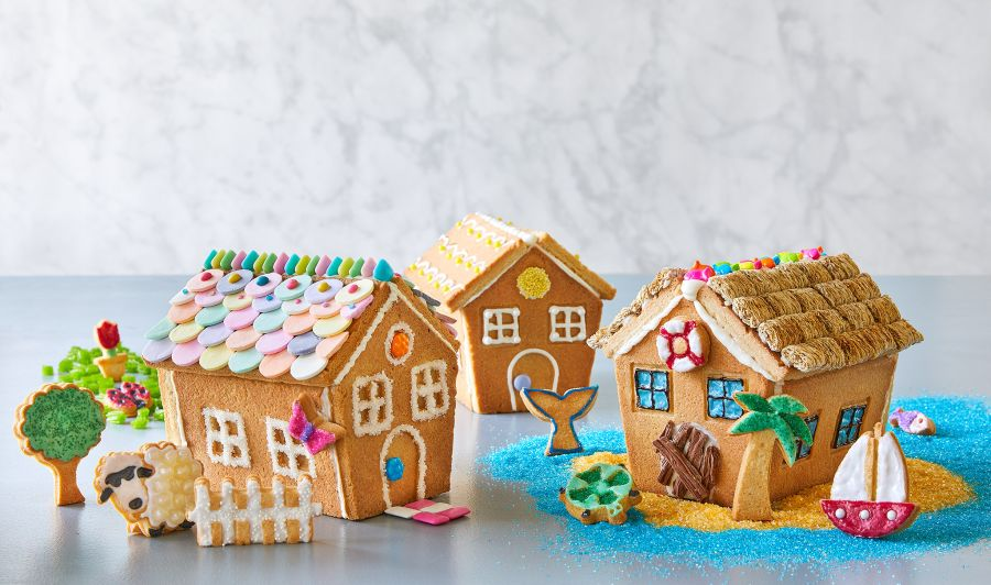 Spring and Summer Cookie Houses