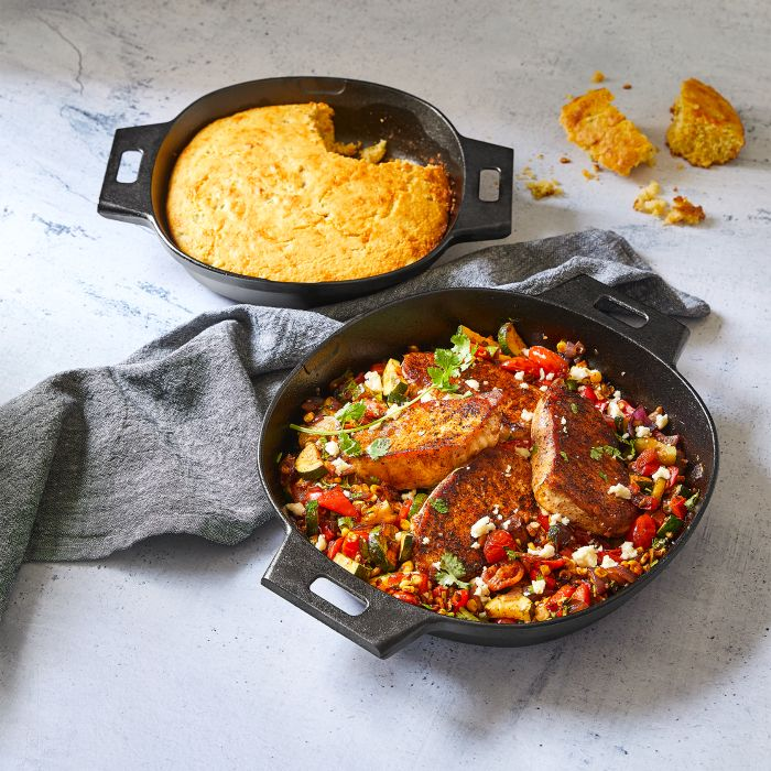 Chili Lime Pork and Cheddar Jalapeno Cornbread