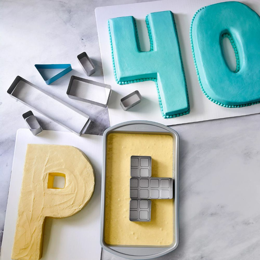 Numbers and Letters Cake Pan