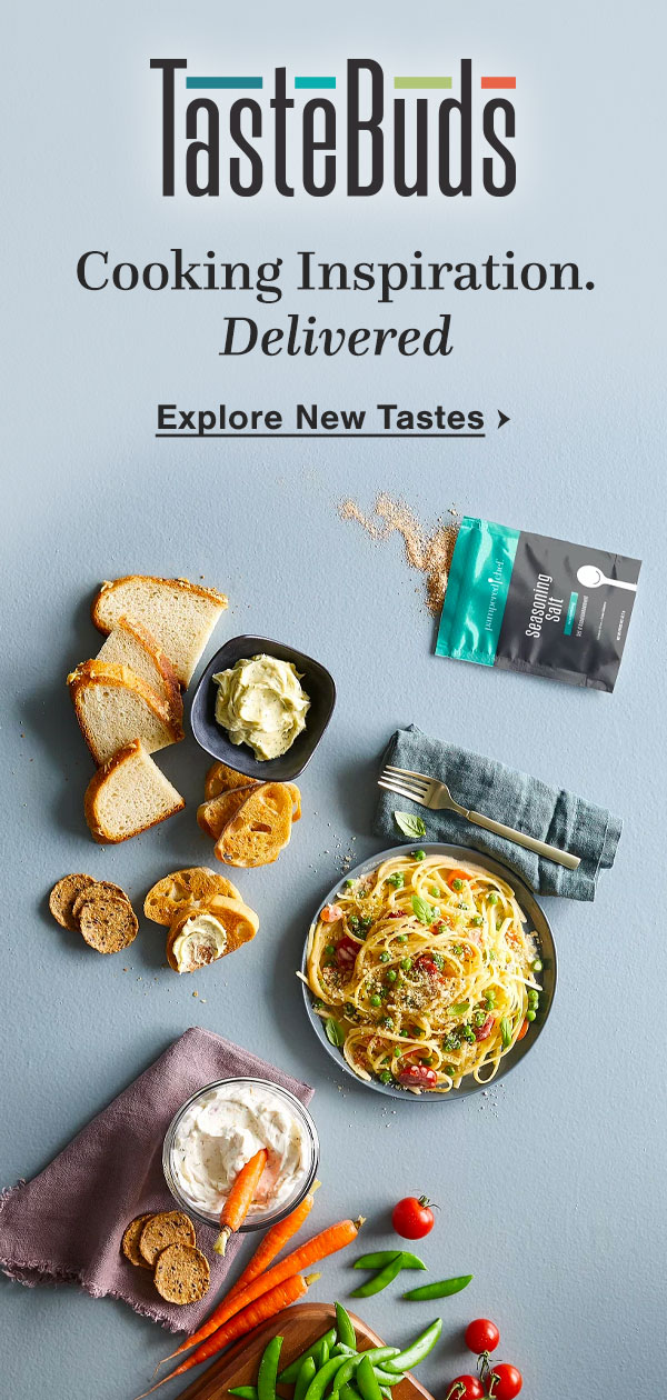 TasteBuds. Cooking Inspiration. Delivered. Explore New Tastes