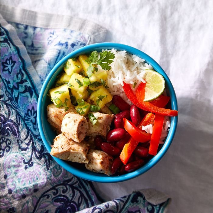 Caribbean Chicken Rice Bowl