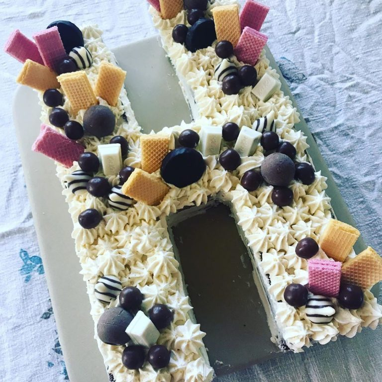 Letter H Cake