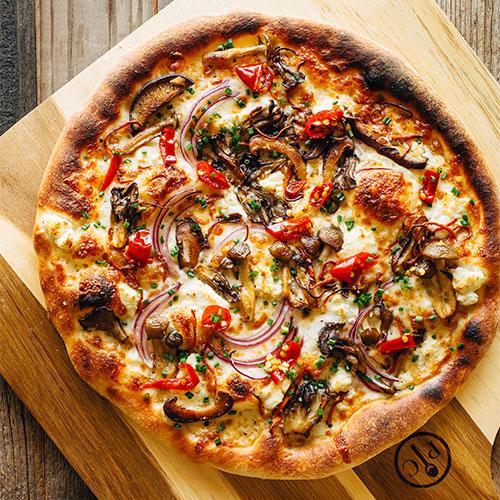 California-Style Wild Mushroom Pizza