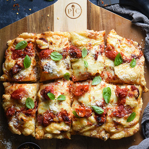 Detroit-Style Pizza With Pickled Tomato Sauce