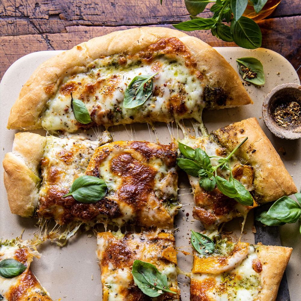 Pizza on a stone - Rosemary Roasted Butternut Squash Pizza