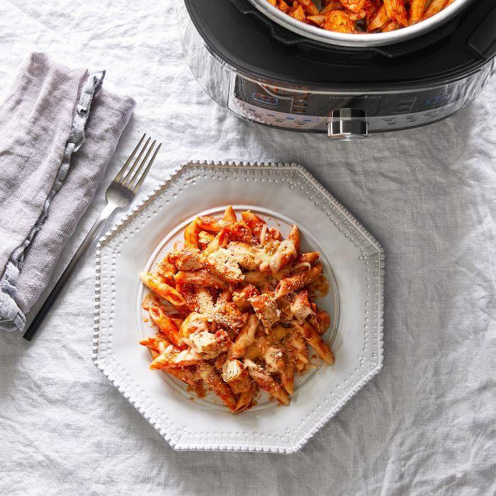 Quick Cooker Chicken Parmesan Pasta