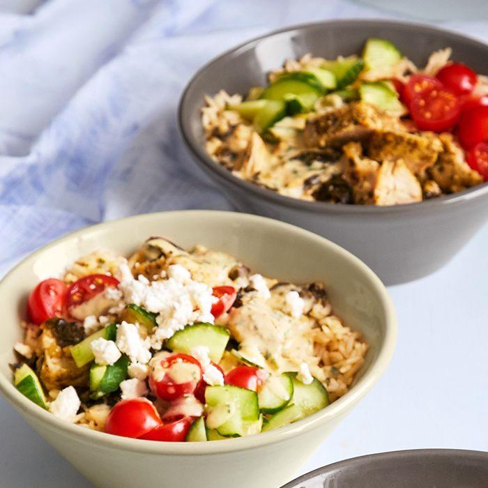 Quick Cooker Mediterranean Chicken & Rice Bowls
